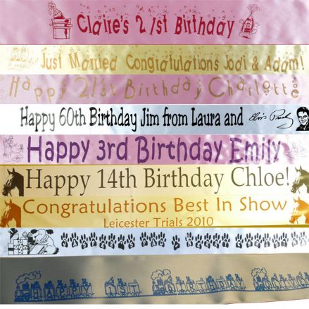 Personalised 40th 50th 60th 70th 80th BIRTHDAY BANNER